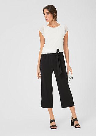 Lehká kalhotová sukně z krepu