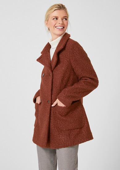 Elegant bouclé coat from s.Oliver
