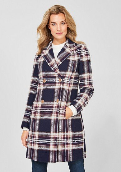 Transitional coat with a woven pattern from s.Oliver