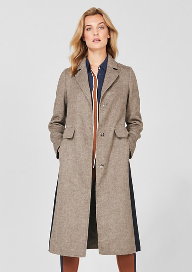 Double-faced wool blend coat from s.Oliver