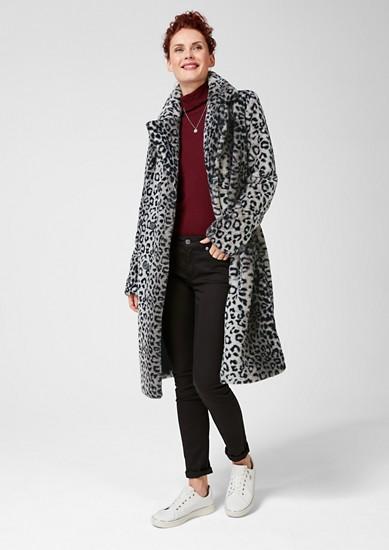 Mantel aus Fake Fur