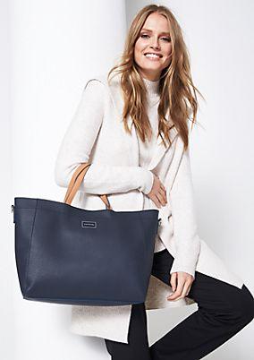 Voluminöse Shoppingbag mit abnehmbaren Trageriemen