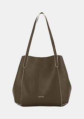 Elegante Shoppingbag aus weichem Lederimitat
