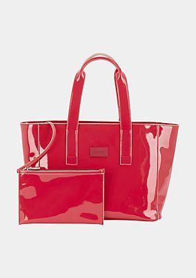Shoppingbag in edler Lackoptik