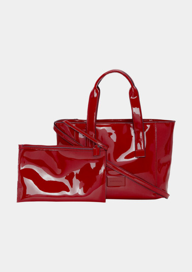 Shoppingbag in extravaganter Lackoptik