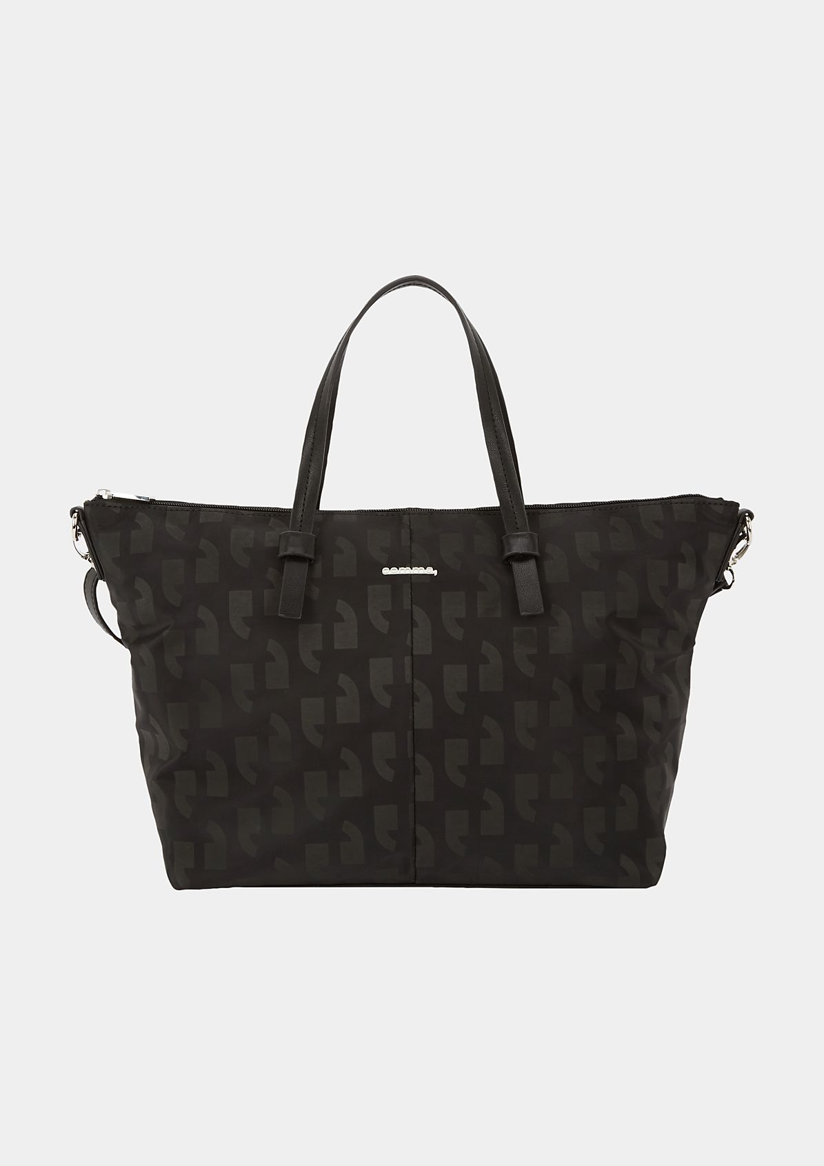 Volumige Shoppingbag mit comma-Muster