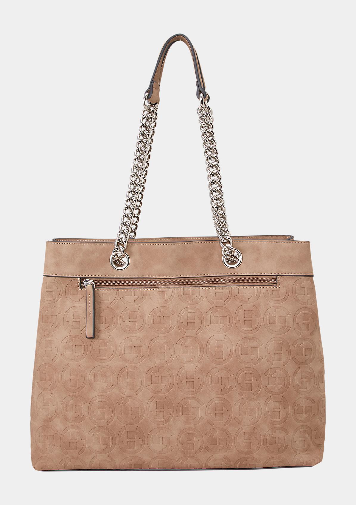 Shoppingbag aus weichem Suede-Kunstleder