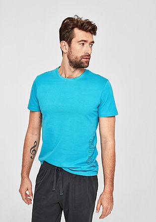 Jersey shirt met logoprint