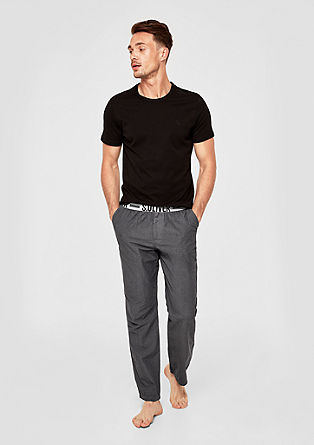 Pyjama bottoms with a logo waistband from s.Oliver