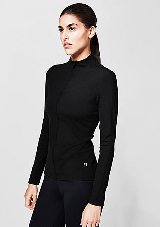 Core: finely ribbed long sleeve top from s.Oliver