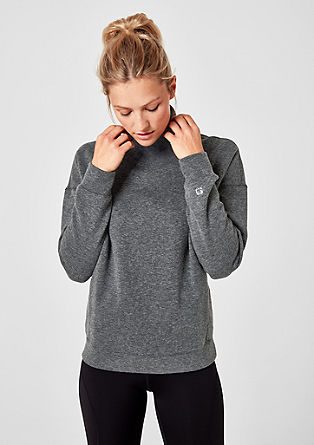 Core: sweatshirt met turtleneck