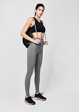Sports tights with a turn-down waistband from s.Oliver