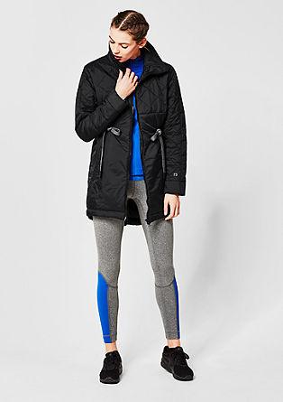 Wattierte Jacke mit Stehkragen