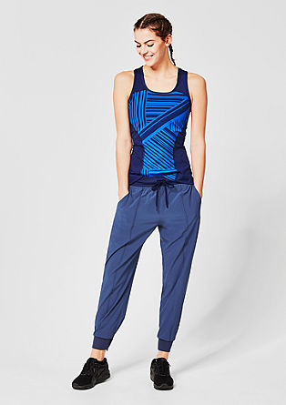 Loose-fitting sports trousers with cuffs from s.Oliver