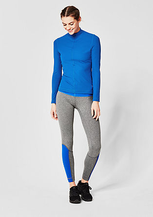 Lightweight, finely ribbed long sleeve top from s.Oliver