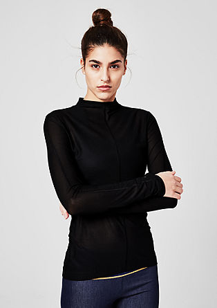 Functional long sleeve mesh top from s.Oliver