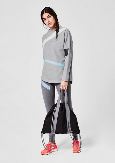 Turtleneck Sweater mit Streifen
