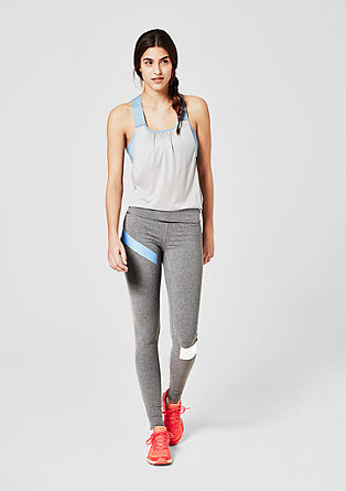 Sporty tights with stripes from s.Oliver