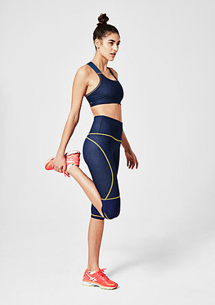 Sporty 3/4-length denim tights from s.Oliver