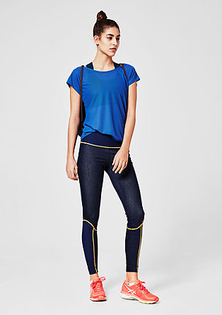 Long denim sports tights from s.Oliver