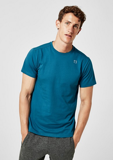T-shirt van jersey met stretch