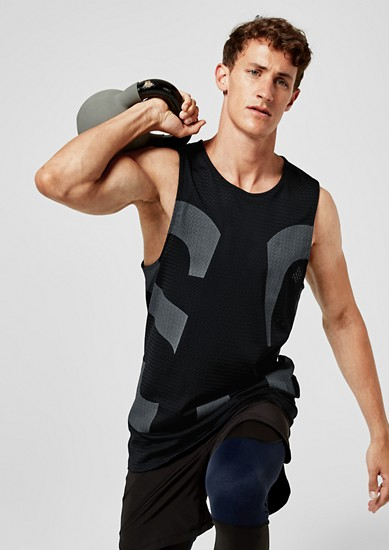 Functional mesh vest top from s.Oliver
