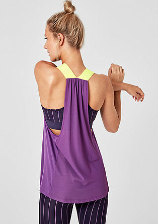 Functional light tank top with mesh from s.Oliver