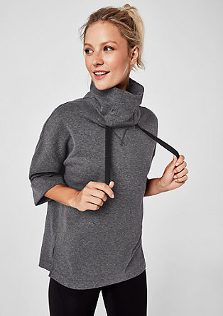 Oversize sweatshirt with half-length sleeves from s.Oliver