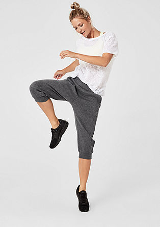 3/4-length tracksuit bottoms with cuffs from s.Oliver
