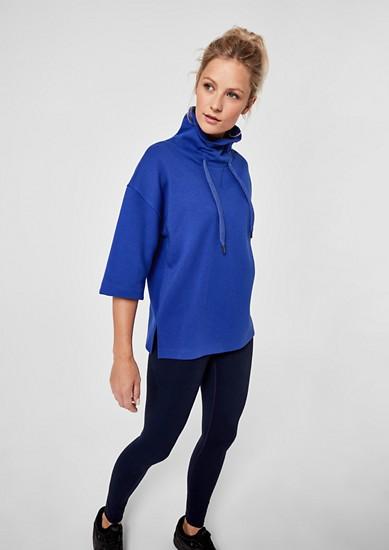 Oversize-Sweatshirt mit halbem Ärmel