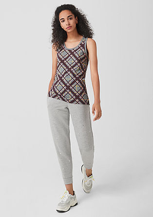 Racer back vest top in jersey from s.Oliver
