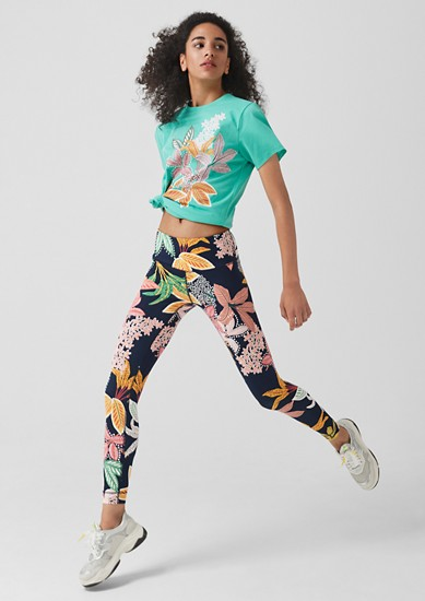 Patterned sports tights from s.Oliver