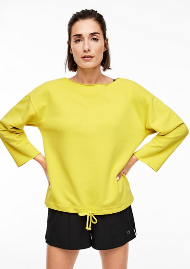 Sweatshirt with a wide neckline from s.Oliver
