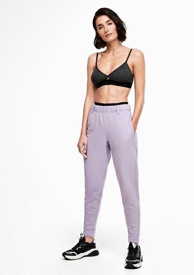 Sproščene športne hlače z elastiko v pasu