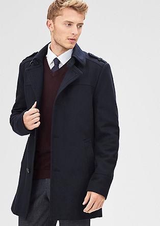 Slim: Klassischer Wollmantel