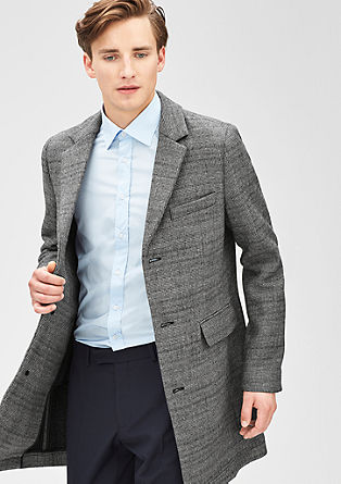Slim: Coat with a houndstooth check pattern from s.Oliver