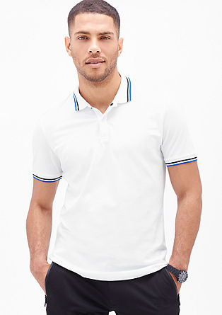 Poloshirt mit Streifen-Details