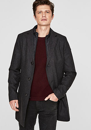 Slim: Blended wool short coat with an insert from s.Oliver