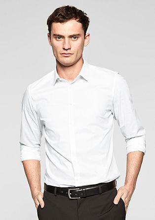 Slim fit: overhemd met stretch