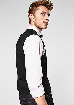 Twill waistcoat with a bow tie from s.Oliver