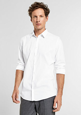 Slim: mixed material shirt from s.Oliver