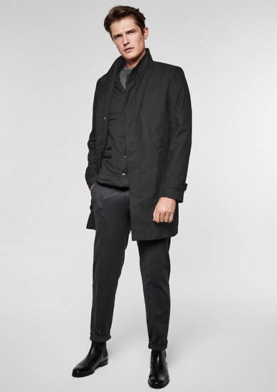 2-in-1 stand-up collar coat with bodywarmer from s.Oliver