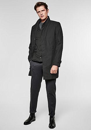 2-in-1 Stehkragen-Mantel mit Weste