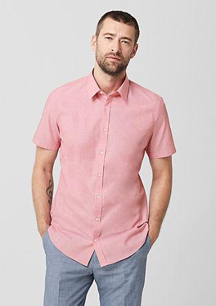 Slim: chemise business à manches courtes de s.Oliver
