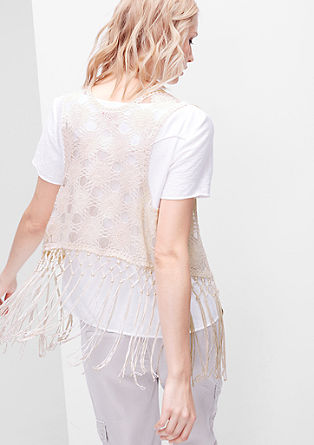 Fringe poncho in lace from s.Oliver