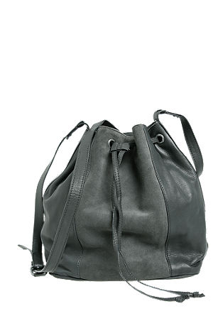 Bucket bag van leer