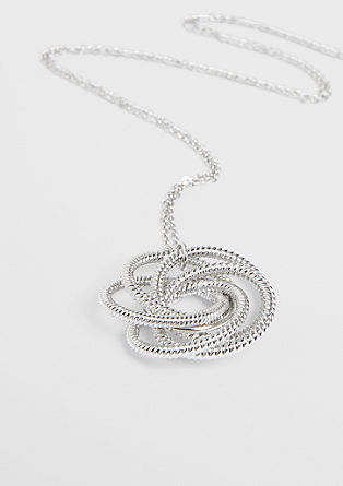 Long necklace with a knotted pendant   from s.Oliver