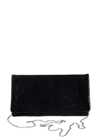 Edle Leder-Clutch in Vintage-Optik