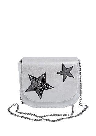 Mini bag met metallic look