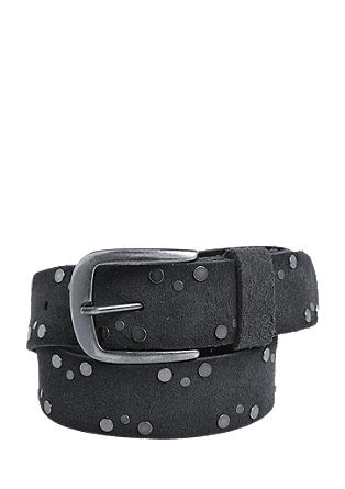 Suede belt with studs from s.Oliver